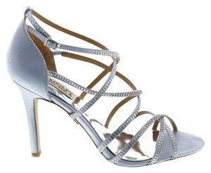 Badgley Mischka Meghan Strappy Evening Sandals Light Blue Pumps