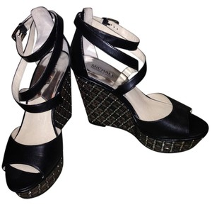 MICHAEL Michael Kors Black/Silver Wedges