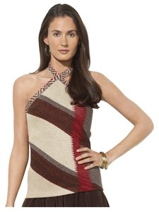 Ralph Lauren Linen Silk Halter Top Brown