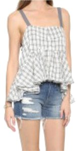 Free People Summer Top Grey checkered print