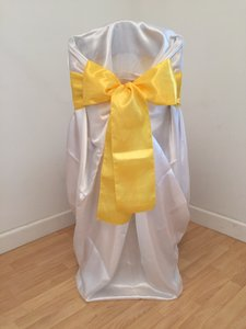 160 Yellow Satin Sashes