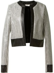 Edun Theory Helmut Lang Black White Check Pattern Jacket