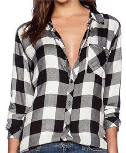 Other Button Down Shirt Black, grey, & white