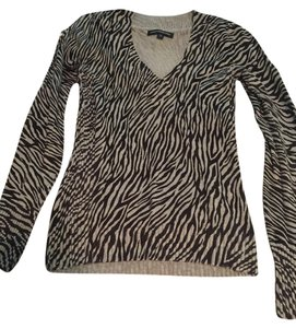 Express Zebra Animal Print Longsleeve Sweater