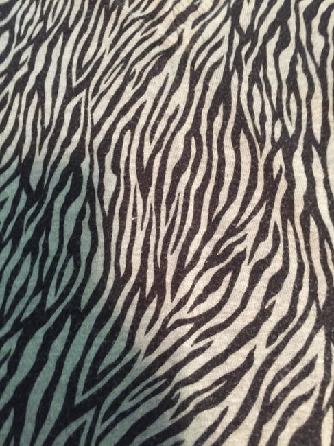 Express Zebra Animal Print Longsleeve V-neck Sweater
