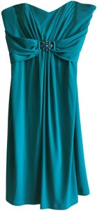 Laundry by Shelli Segal Strapless Embellished Prom Formal Pleated Dress