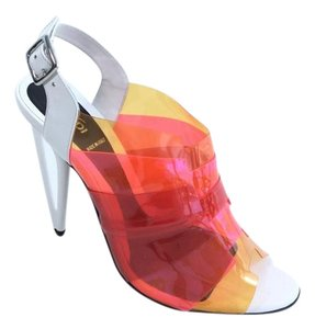 Fendi Ombre Leather Stiletto Multicolored Sandals