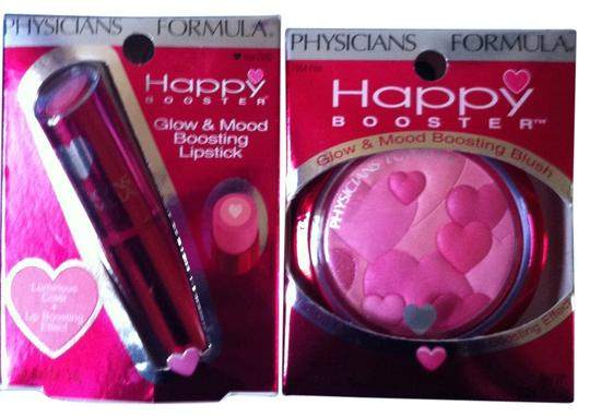 "Other Physicians Formula BRAND NEW IN BOX'S ""HAPPY BOOSTER"" 2 Peice Makeup 1 Glow & Mood Boosting Lipstick-Color/I Love Rose 1 Glow & Mood Boosting Blush- Color/Pink Retail Both $27.98"