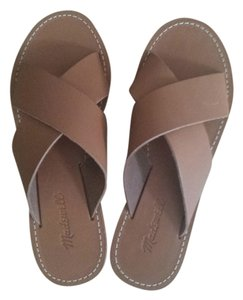 Madewell Light Brown Leather Sandals