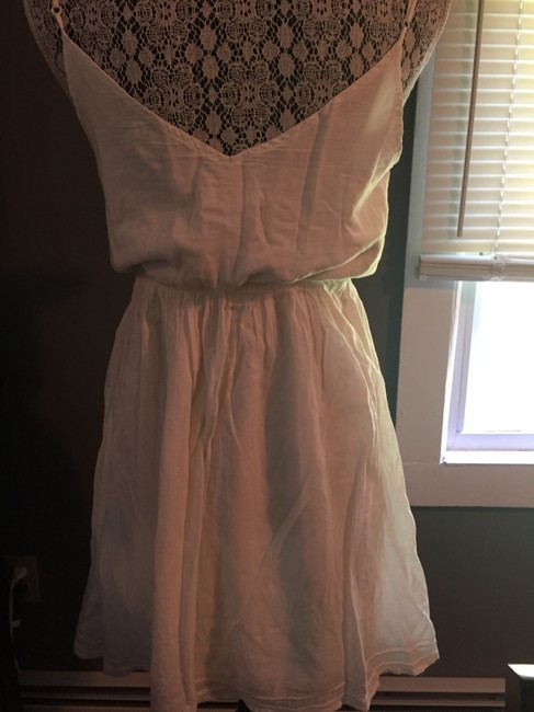 American Eagle Outfitters short dress White Ruffle Sundress on Tradesy
