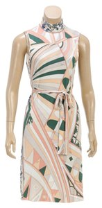 Emilio Pucci short dress Peach/Green/Multicolor on Tradesy