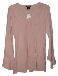 Express Cotton Babydoll Boho Top Pale Pink