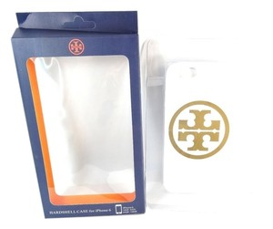 Tory Burch Tory Burch Hardshell Case for iPhone 6 White Gold Logo NEW IN BOX