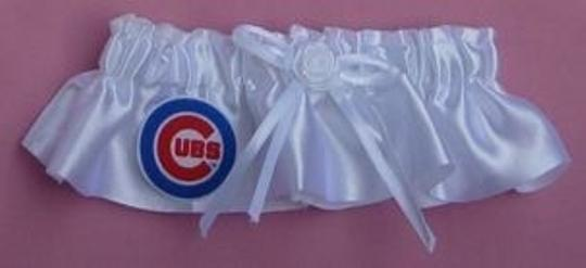 White Chicago Cubs Garter