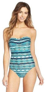 Jessica Simpson Jessica Simpson Diamond Daze Tribal Studded Bandeau One Piece Swimsuit S