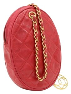 Chanel Vintage Quilted Leather Satchel in Red