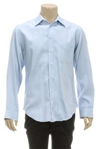 Armani Collezioni Button Down Shirt Blue