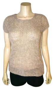 DKNY Knit Knit Size Large Short Sleeves Stretchy Size Large P1689 Sweater