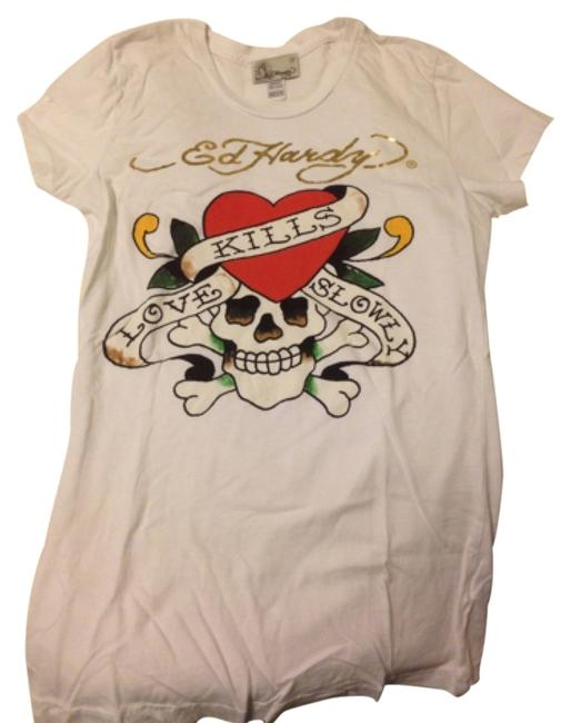 Preload https://item3.tradesy.com/images/ed-hardy-white-classic-tee-shirt-size-8-m-5664277-0-0.jpg?width=400&height=650