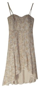 BCBGMAXAZRIA Sequin High Low Dress