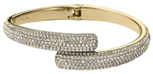 Michael Kors Michael Kors Pave Gold-Tone Hinge Bangle