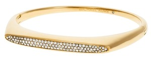 Michael Kors MICHAEL KORS PAVE GLITZ GOLD STAINLESS STEEL BANGLE BRACELET