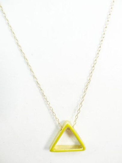 Kate Spade Kate Spade Saturday Yellow Gold Triangle Pendant Chain Necklace NEW