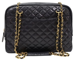 Chanel Vintage Quilted Lambskin Leather Tote Sku : Jit230571140f Shoulder Bag