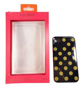Kate Spade Kate Spade Premium Hardshell Case iPhone 4 / 4S Polka Dot Black Gold NEW IN BOX