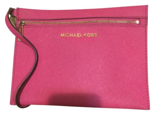Preload https://item3.tradesy.com/images/michael-kors-mk-pink-leather-clutch-5666107-0-0.jpg?width=440&height=440