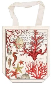 Michel Design Works French Market Canvas Tote in red