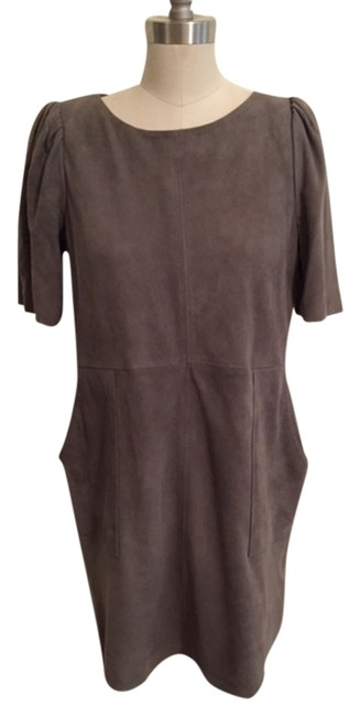 Item - Gray Above Knee Short Casual Dress Size 4 (S)