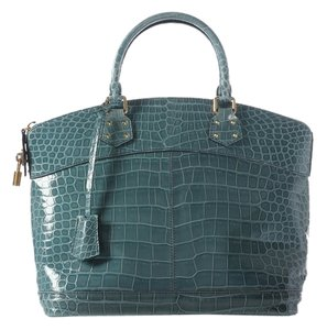 Louis Vuitton Crocodile Blue Satchel