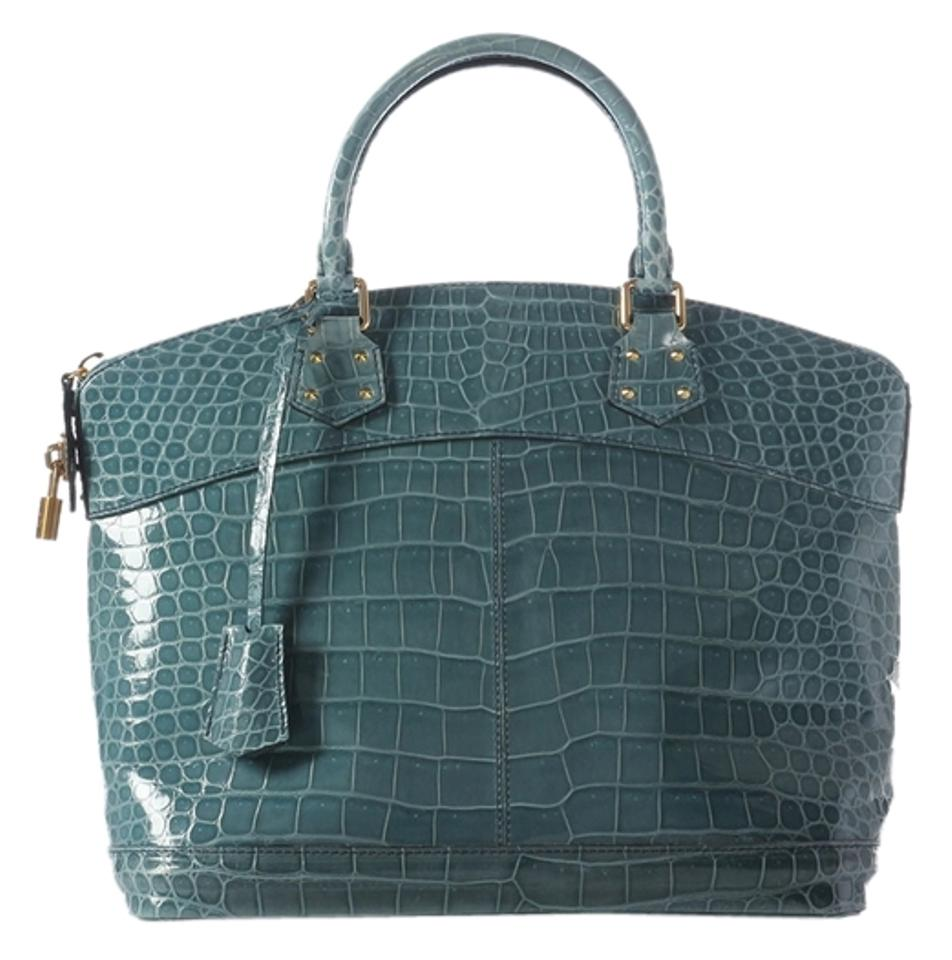 Louis Vuitton Lv.j0603.03 Teal Green Gold Hardware Satchel in Blue ... 174a8ac89f