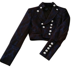 bebe Navy Blue/Brown Blazer