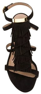 Chloé Chloe Chloe Wedge fringe wedges black suede Wedges