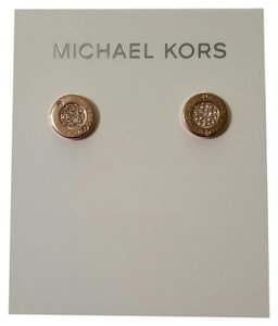Michael Kors Rose Gold MK Studs
