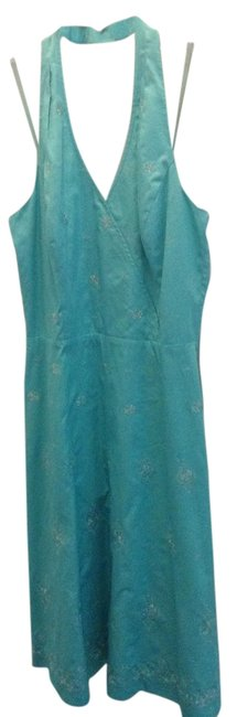 Ann Taylor short dress Turquoise on Tradesy