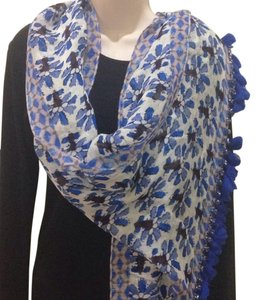 Tory Burch Bahama Corsage Mixed Oblong Scarf