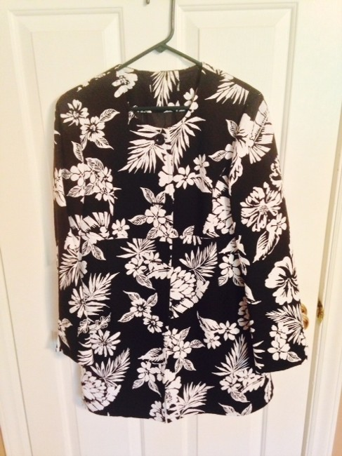 Other Black and White Floral Jacket