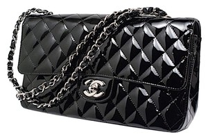 Chanel Patent Double Flap Shoulder Bag