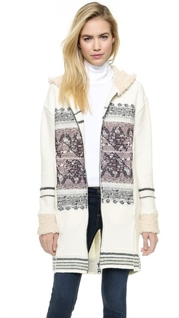 Free People Alpine Escape Cozy Alpaca Rare Jacket