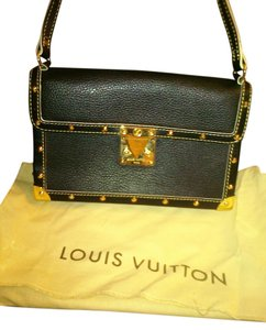 Louis Vuitton Suhali Leather Satchel in Black
