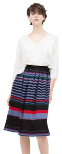 Zara Striped Full Stripe Skirt Multicolor