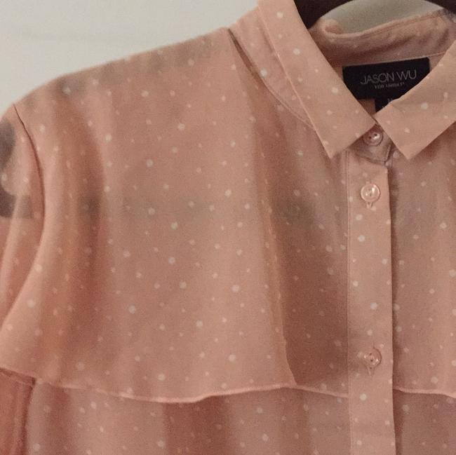 Jason Wu for Target Top Pink with white polka dots pattern