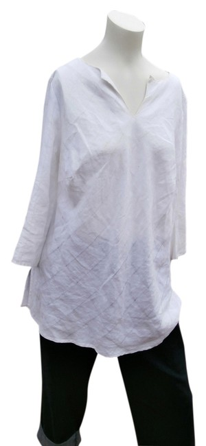 Preload https://item1.tradesy.com/images/white-bias-cut-linen-tunic-size-20-plus-1x-5670025-0-0.jpg?width=400&height=650