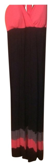 Dark Blue and Pink Maxi Dress by Other