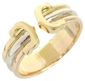 Cartier Cartier White & Yellow & Pink Gold 18K C DECOR Trinity Ring US Size 6