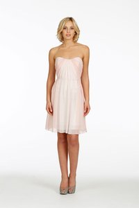 Jim Hjelm Rose Chiffon And Blush Chiffon Over Ivory Lining Jh5406 Dress