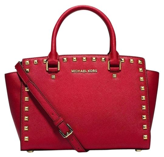 Michael Kors Satchel in Chili Red/Gold